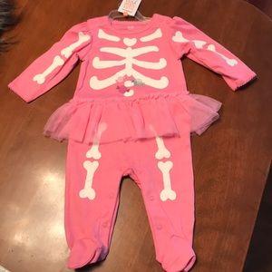 Brand new Carters baby skeleton pjs, super cute